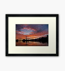 Vivid Skyscape - Summer Sunset at Toronto Beaches Marina Framed Print