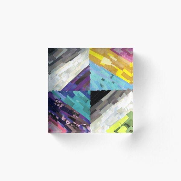 Bi, Pan, Ace, Aro Solidarity Acrylic Block