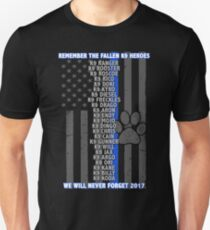 Fallen K9 Heroes 2017  Unisex T-Shirt