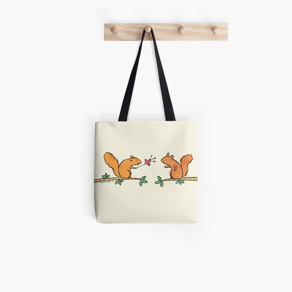 Tickle Tickle Little Squirrel Tote Bag