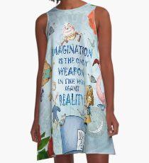Alice In Wonderland - Imagination A-Line Dress