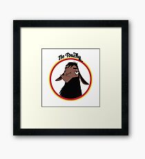 Kuzco NO TOUCHY sad llama emperor's new groove emperor david spade back off no touch funny gift Framed Print