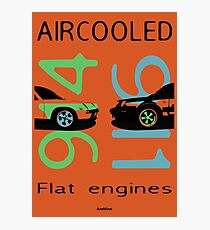 aircooled flat6 engines colored 3 Photographic Print