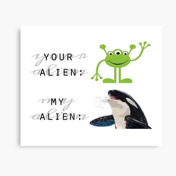 your alien vs. my alien Canvas Print
