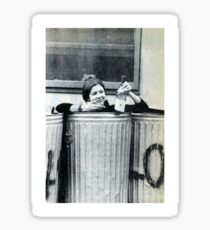 Carrie Fisher In A Bin Sticker