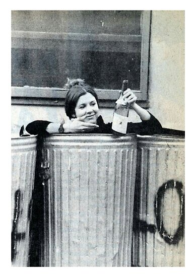 Carrie Fisher In A Bin by maevekey