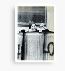 Carrie Fisher in einem Behälter Leinwanddruck