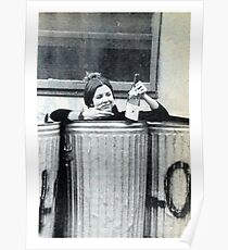 Carrie Fisher In A Bin Poster
