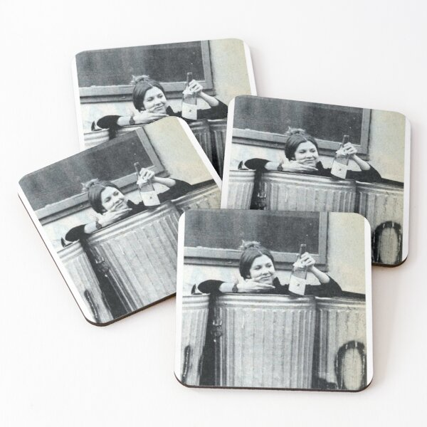 Carrie Fisher In A Bin Coasters (Set of 4)