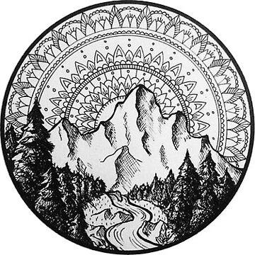 Mandala de la montaña de katewilliams320