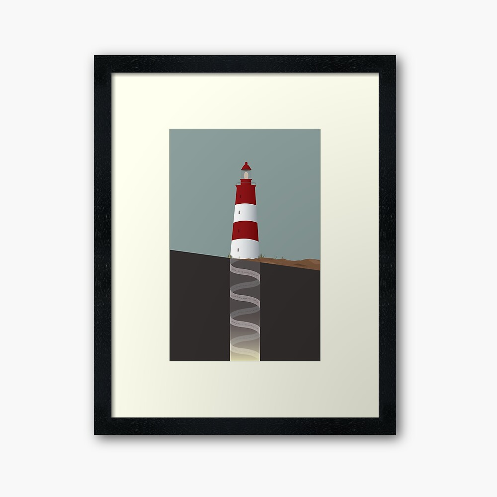 Topographical Anomaly  Framed Art Print