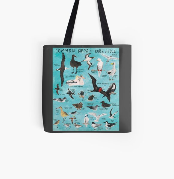 Common Birds of Kure Atoll All Over Print Tote Bag
