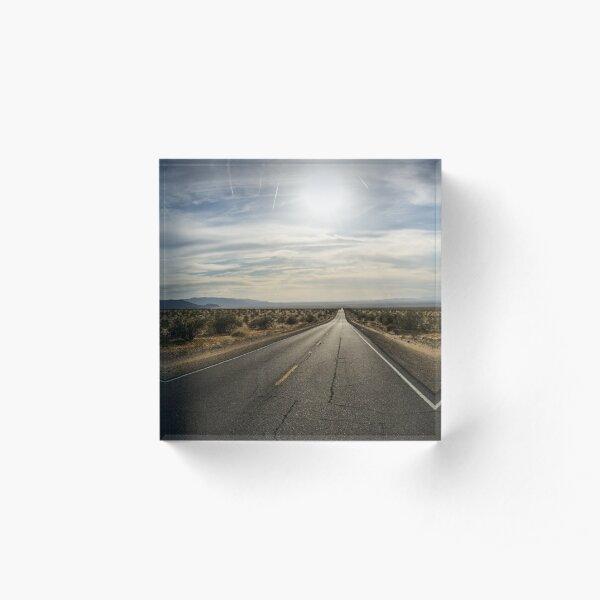Desert Road Acrylic Block