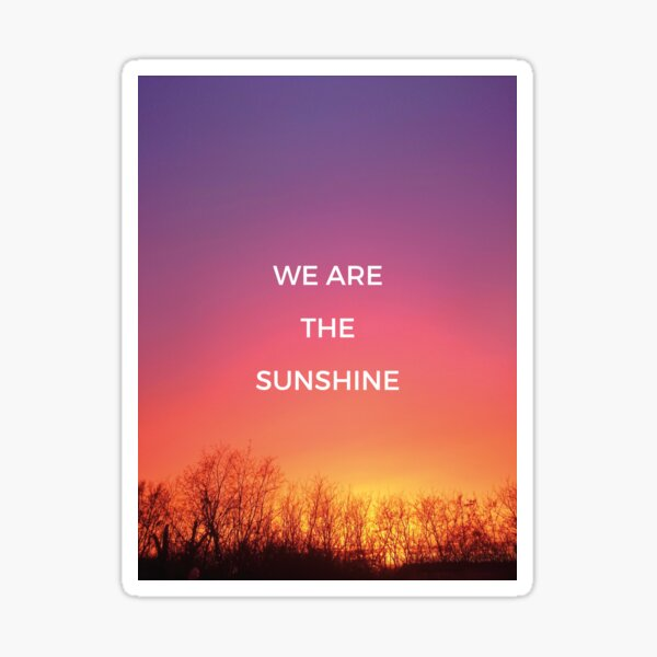 We are the sunshine Sticker