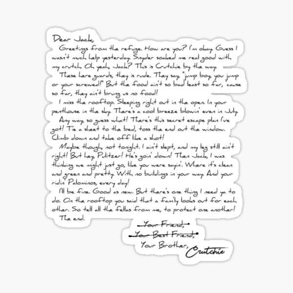 Letter from the Refuge Sticker