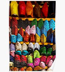 Moroccan Shoes Poster