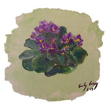 Violets by EmilyPaints