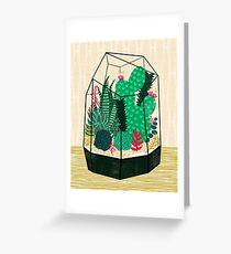 Tarjeta de felicitación Terrario - Planta Geodésica para Suculentas y Cactus de Andrea Lauren