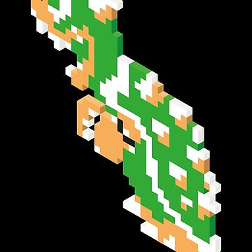 8-bit Isometric 06 - Super Mario Bros. - Bowser/King Koopa by theuglytree