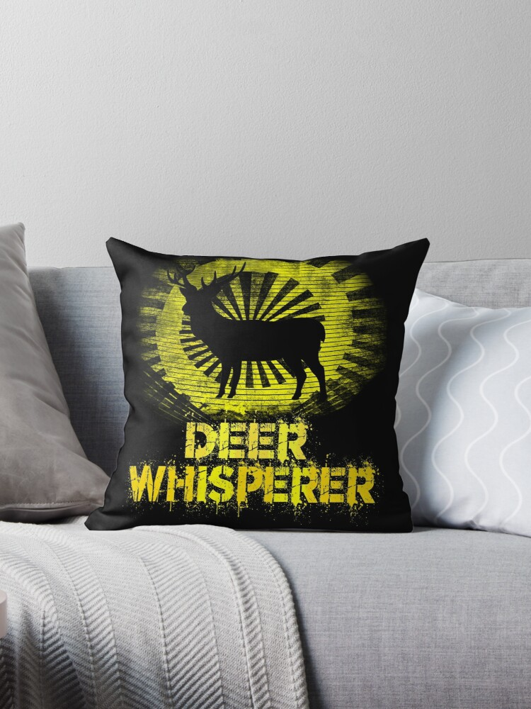 Astonishing Awesome Distressed Hunting Themed Deer Whisperer T Shirt Throw Pillow By Michael Lujano Inzonedesignstudio Interior Chair Design Inzonedesignstudiocom