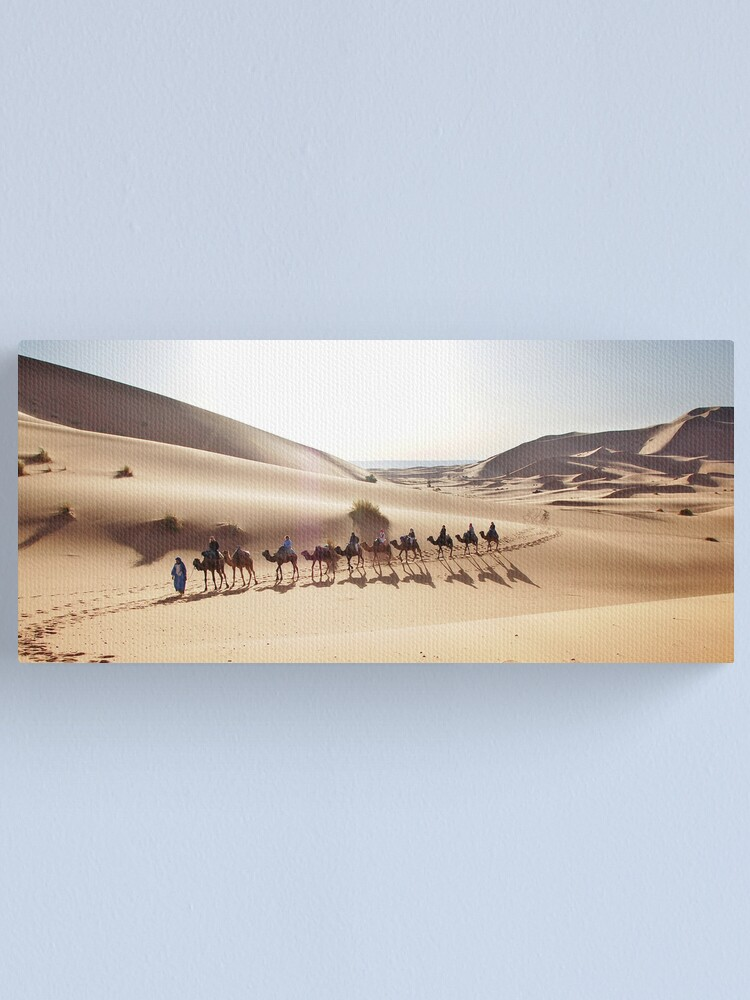 Alternate view of Camels in the Sahara Canvas Print