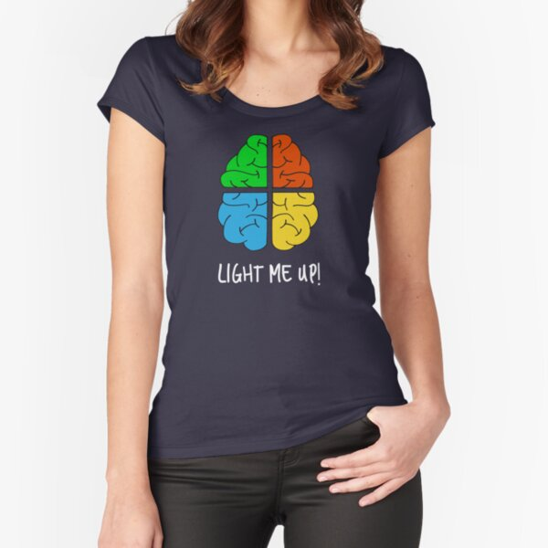 Light Me Up Fitted Scoop T-Shirt