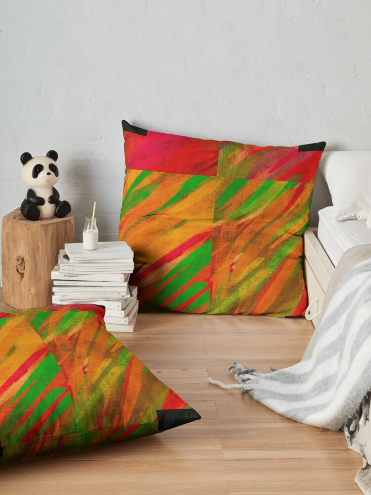 """Alternate view of Bring """"Color"""" to your Life Floor Pillow"""