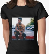 LIL SKIES HIGH QUALITY CANDID SHOT Women's Fitted T-Shirt