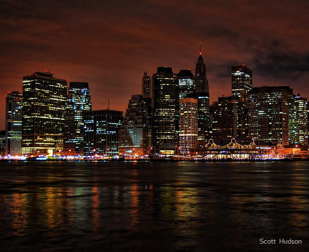 Lower Manhattan at Night by Scott  Hudson