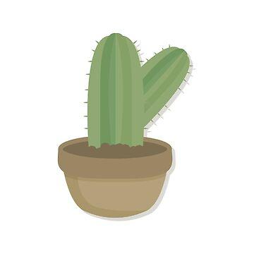 Cool Cactus In Cute Pot by minou24