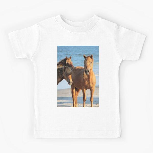 Assateague Beach Ponies Series - 01 Kids T-Shirt