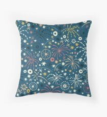 There are fireworks everywhere color variation 2 Throw Pillow