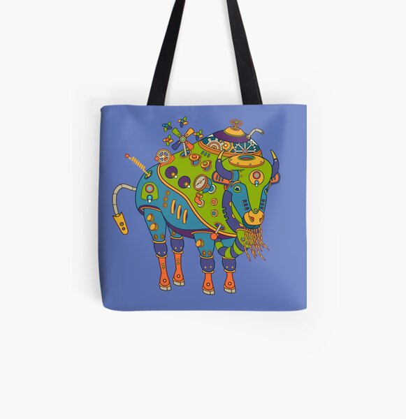 Bison, from the AlphaPod collection All Over Print Tote Bag