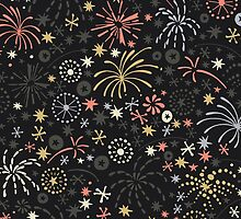 There are fireworks everywhere color variation 2 by NatGonzalez
