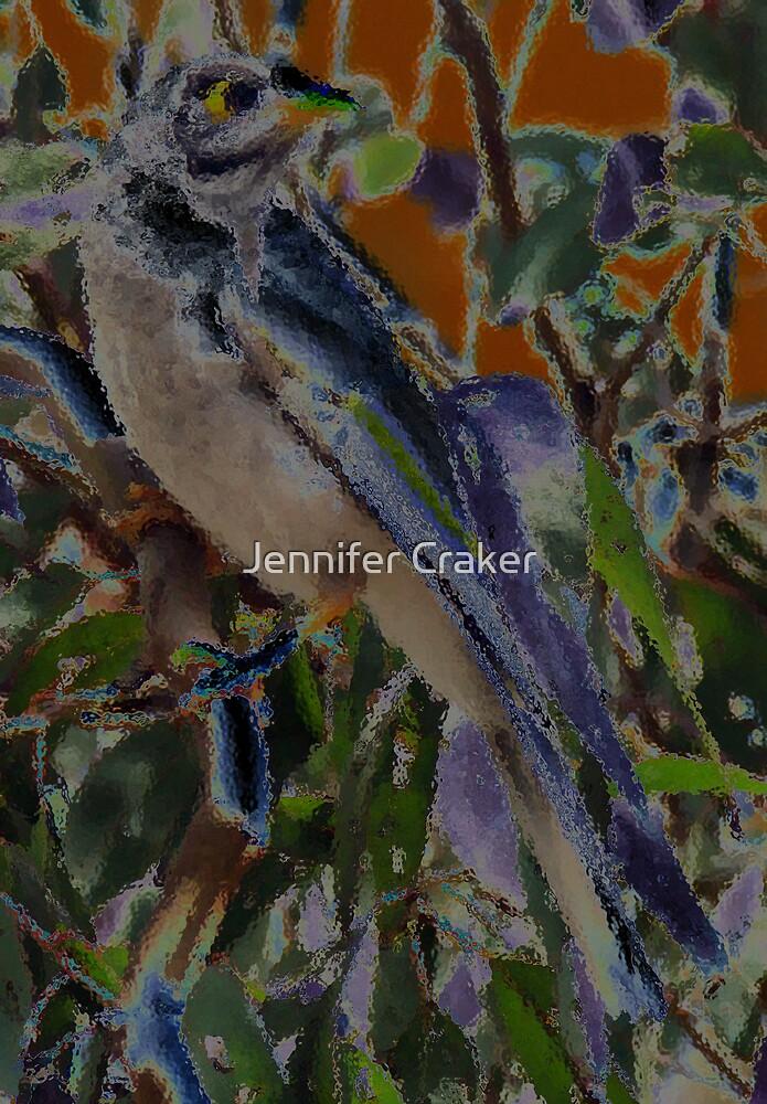 Yellow Throated Minor Bird V02 by Jennifer Craker