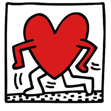 Heart (Keith Haring)  by RetroPops