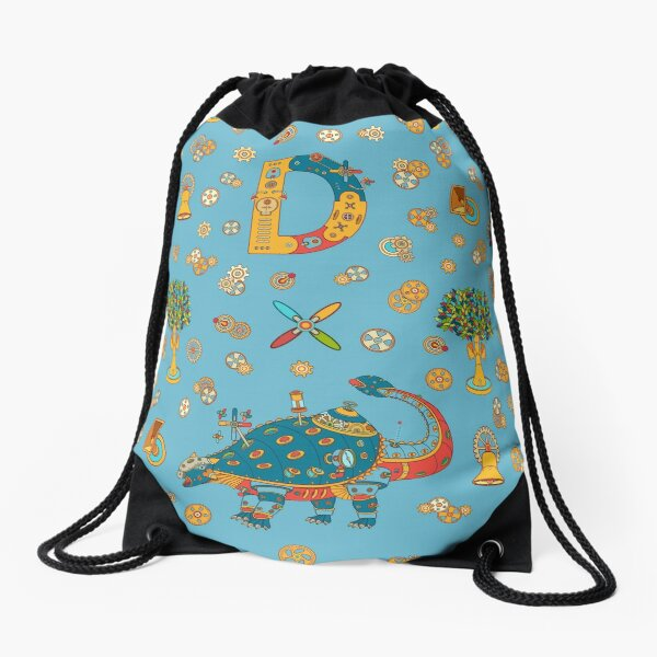 Dinosaur, from the AlphaPod collection Drawstring Bag