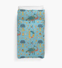Dinosaur, from the AlphaPod collection Duvet Cover