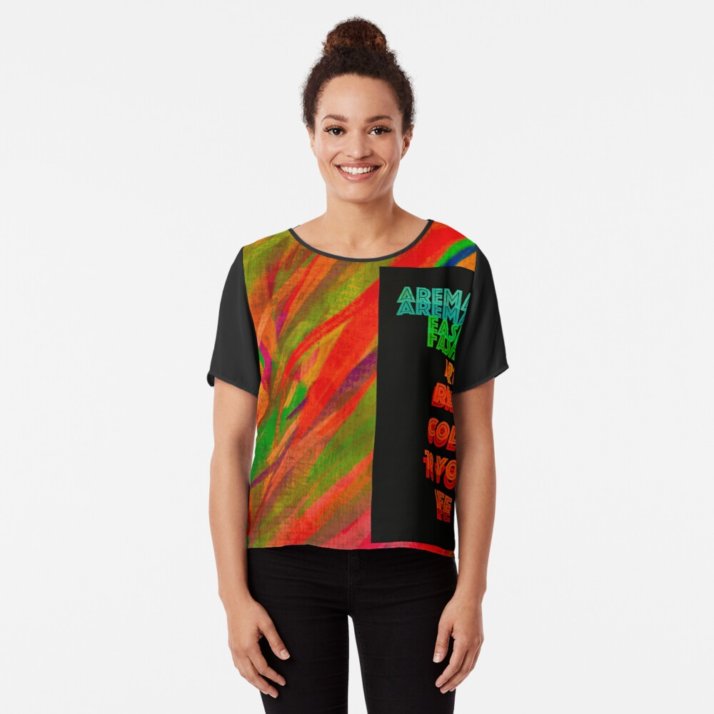 """Bring """"Color"""" to your Life Chiffon Top"""