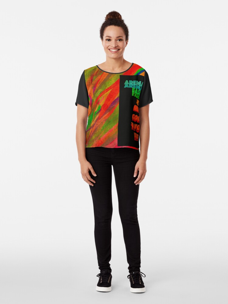 """Alternate view of Bring """"Color"""" to your Life Chiffon Top"""