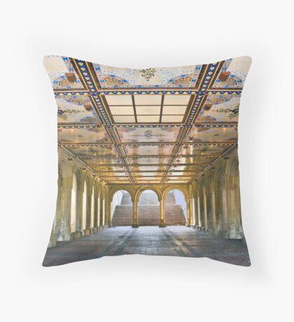 Bethesda Terrace Arcade Throw Pillow