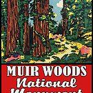 Muir Woods National Monument California Vintage Luggage Travel by MyHandmadeSigns