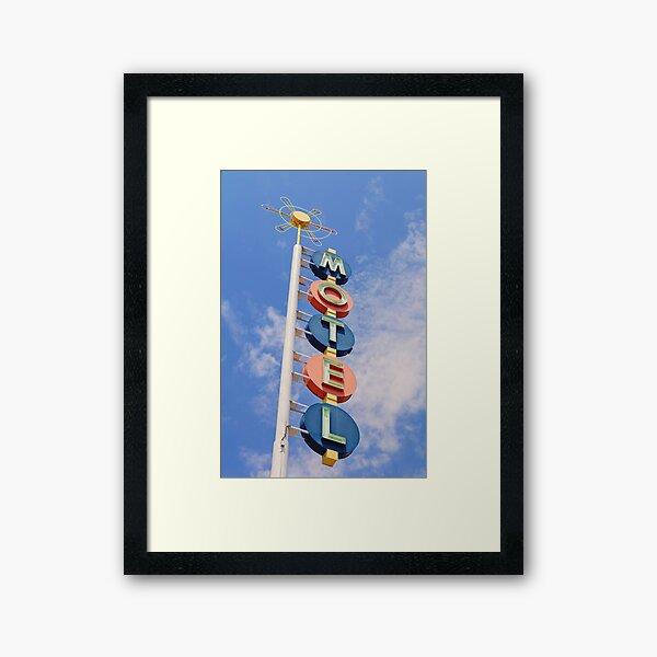 Vintage Motel Framed Art Print