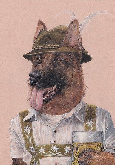 Deutscher Schäferhund von Rachel Waterman