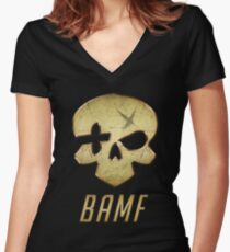 B.A.M.F Women's Fitted V-Neck T-Shirt
