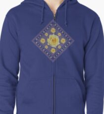Yellow Rose Zipped Hoodie