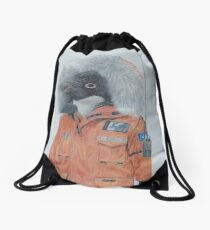 Antarctic Penguin Drawstring Bag