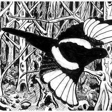 Magpie by EvictedArt