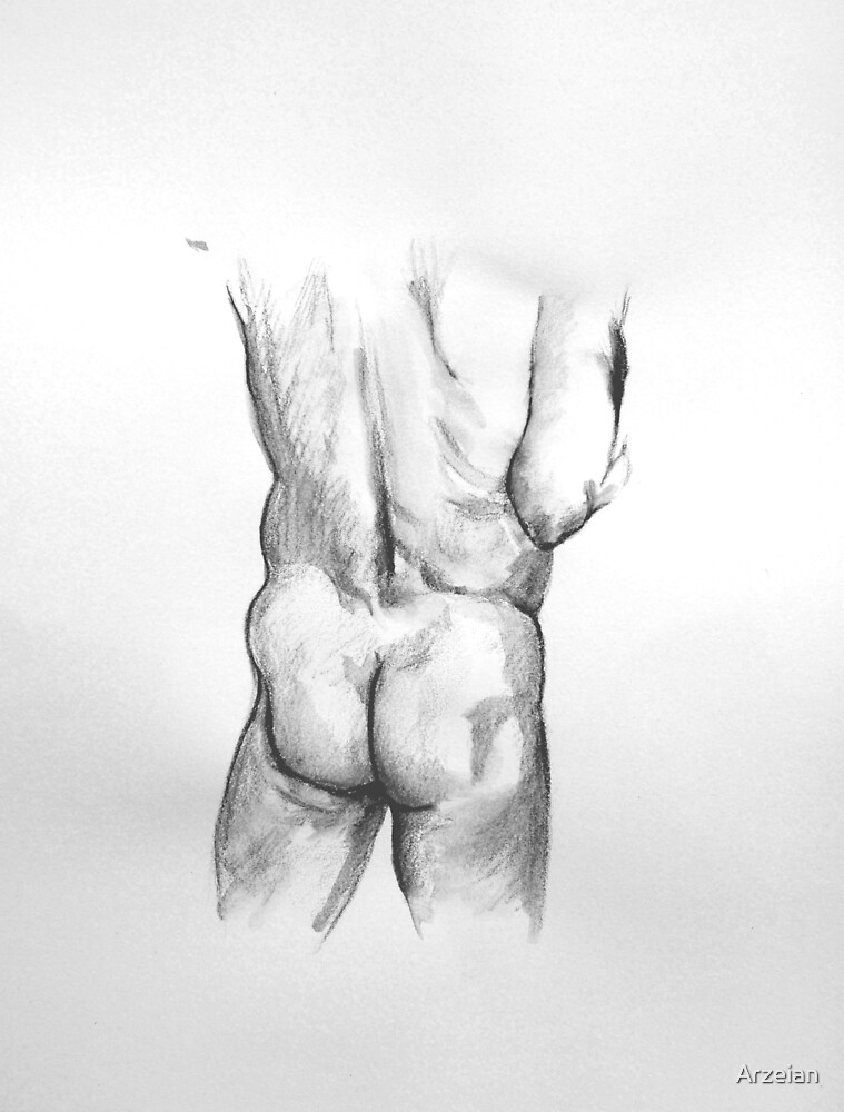 Male Buttocks study by Arzeian