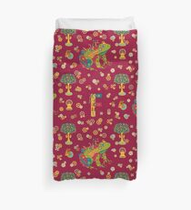 Frog, from the AlphaPod collection Duvet Cover